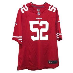 NFL Team Jersey 49ers Patrick L. Willis Large Red
